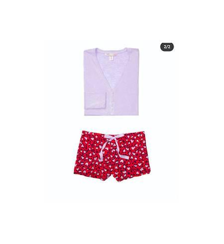 Пижама EH-385816 кофта + шорты Red Cheetah