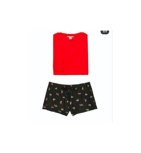Пижама EH-385814 кофта+шорты Black Fox W XS