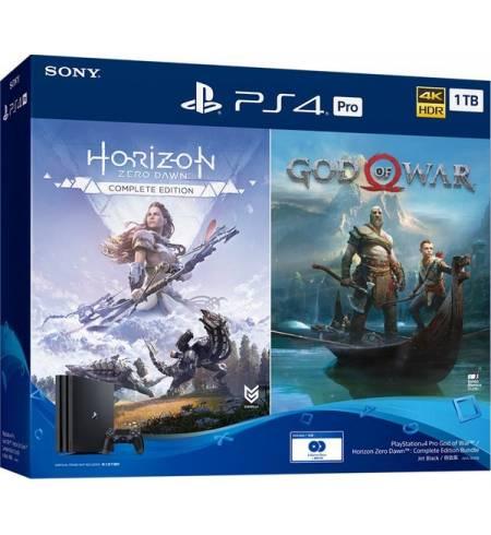 Консоль игровая SONY PS4, 1 TB, Black, Pro, UA, God of War +Horizon Zero Dawn