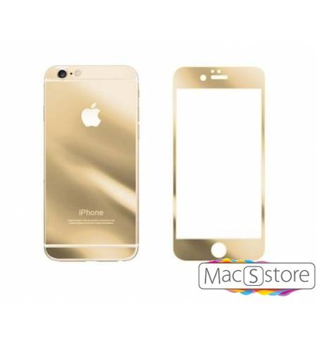 Glass Apple Gold iPhone 6/6S комплект зеркальное