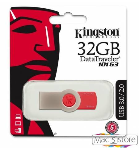 Флешки USB Flash 32Gb Kingston DT101 G3 Red