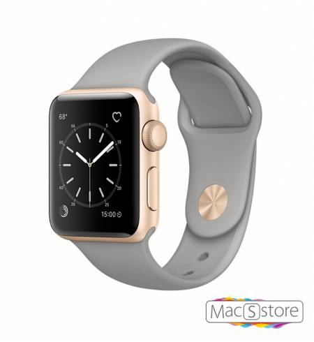 Apple Watch Series 2 38mm Gold Aluminum Case with Concrete Sport Band