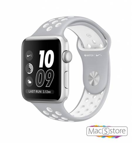 Apple Watch Nike+ 38mm Silver Aluminum Case with Flat Silver/White Nike Sport Band