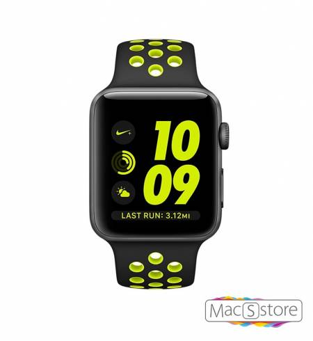 Apple Watch Nike+ 42 mm Space Gray Aluminum Case with Black/Volt Nike Sport Band