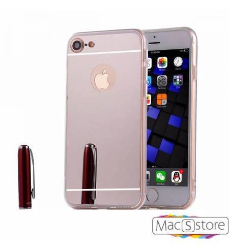 Чехол TPU-пластик зеркальный серебро Logo для iPhone 7