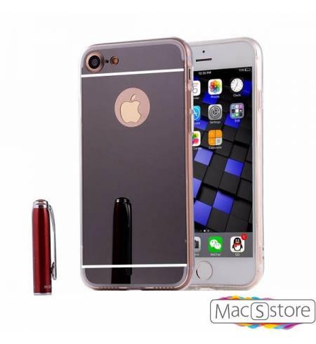 Чехол TPU-пластик зеркальный черный Logo для iPhone 7