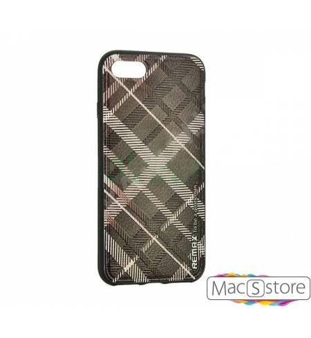 Чехол ТРU коричневый Клетка барберри Remax для iPhone7